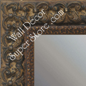MR1769-3 | Distressed Walnut / Ornate | Custom Wall Mirror | Decorative Framed Mirrors | Wall D�cor