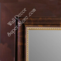 MR1849-1 | Bronze Design with Gold Beading | Custom Wall Mirror | Decorative Framed Mirrors | Wall D�cor