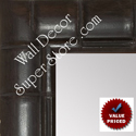 MR1867-3 Espresso Coffee Brown Tropical Bamboo - Value Priced - Large Custom Wall Mirror Custom Floor Mirror