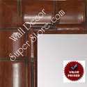 MR1867-4 Rich Walnut Tropical Bamboo - Value Priced Large Custom Wall Mirror Custom Floor Mirror