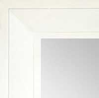 MR1868-2 Matte Satin White - Value Priced - Large Custom Wall Mirror Custom Floor Mirror