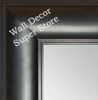 MR1869-3 Matte Black - Value Priced - Extra Large Custom Wall Mirror Custom Floor Mirror