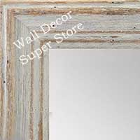 MR1880-1 Deep Distressed Sea Shell White - Large Custom Wall Mirror Custom Floor Mirror