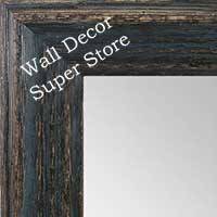 MR1880-4 Deep Distressed - Charcoal Black - Large Custom Wall Mirror Custom Floor Mirror