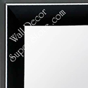 MR210-8  Black - Small Custom Wall Mirror