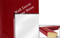 MR321-3 High Gloss Red Lacquer - Large Custom Wall Mirror Custom Floor Mirror