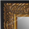 MR5233-1 Ornate Gold Leaf With Black Trim - Extra Extra Large Custom Wall Mirror Custom Floor Mirror