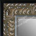 MR5233-2 Ornate Silver Leaf With Black Trim - Extra Extra Large Custom Wall Mirror Custom Floor Mirror