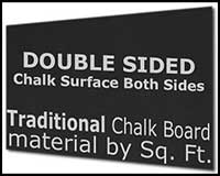 MT109 Double Sided Traditional Chalk Board Material by the SQ FOOT