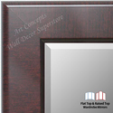 WM1776-2 | Mahogany | Custom Three Panel Wardrobe Mirror
