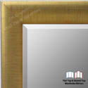 WM1778-1 | Distressed Gold Leaf - Crescent Moulding | Custom Three Panel Wardrobe Mirror