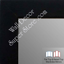 WM1845-9 Value Price - Classic Matte Black - Custom Three Panel Dressing Mirror