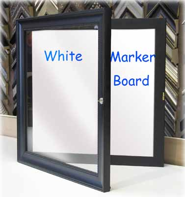 Enclosed White Board Cabinet