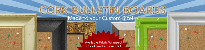 Custom cork bulletin boards made to size. Custom pin boards | Custom notice boards