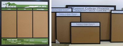 Custom information wallboards – combine your company logo or name with a special format to display 