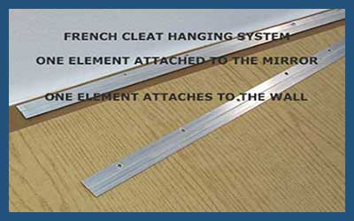 Easy to install interlocking french cleat mounting bracket.