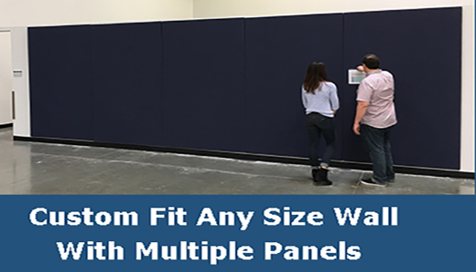 Combine panels to make very large walls covered with our fabric wrapped bulletin boards.
