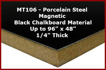 Custom cut black chalkboard material - make any size up to 4 feet x 8 feet.
