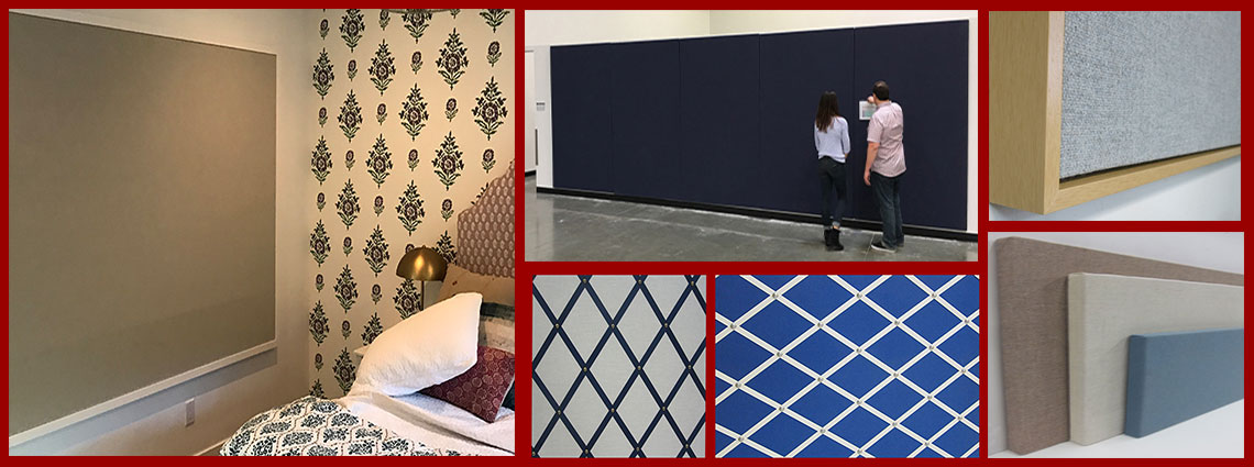 Custom fabric covered wall decor