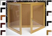 BBC204 Multiple Door Bulletin Board Cabinet Available in 11 Colors