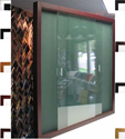 BBC206 Bulletin Board with 2 Sliding Glass Doors Available in 11 Colors