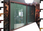 BBC207 Bulletin Board with 4 Sliding Glass Doors Available in 11 Colors