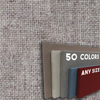 FW800-03 Medium Silver Blend - Frameless Fabric Wrap Cork Bulletin Board - Classic Hook And Loop Velcro