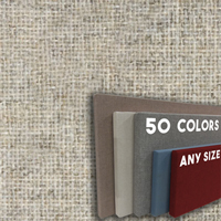FW800-08 OPAL - Frameless Fabric Wrap Cork Bulletin Board - Classic Hook And Loop Velcro