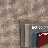 FW800-13 PUMICE - Frameless Fabric Wrap Cork Bulletin Board - Classic Hook And Loop Velcro