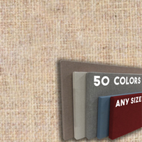 FW800-15 VANILLA - Frameless Fabric Wrap Cork Bulletin Board - Classic Hook And Loop Velcro