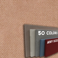 FW800-16 TERRA ROSA - Frameless Fabric Wrap Cork Bulletin Board - Classic Hook And Loop Velcro