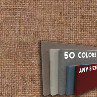 FW800-17 CINNAMON - Frameless Fabric Wrap Cork Bulletin Board - Classic Hook And Loop Velcro