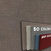 FW800-23 BROWN - Frameless Fabric Wrap Cork Bulletin Board - Classic Hook And Loop Velcro
