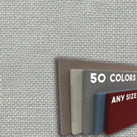 FW800-26 Nickel Frameless Fabric Wrap Cork Bulletin Board - Classic Hook And Loop Velcro