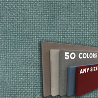 FW800-28 Green Blue Spruce Frameless Fabric Wrap Cork Bulletin Board - Classic Hook And Loop Velcro