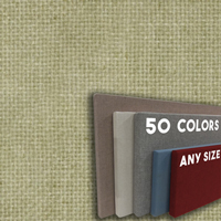 FW800-31 Leaf Green Frameless Fabric Wrap Cork Bulletin Board - Classic Hook And Loop Velcro