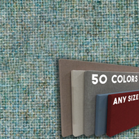 FW800-33 Light Green Blue Brown Mix Frameless Fabric Wrap Cork Bulletin Board - Classic Hook And Loop Velcro