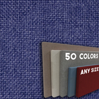 FW800-48 Violet Color Frameless Fabric Wrap Cork Bulletin Board - Classic Hook And Loop Velcro
