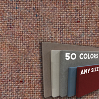 FW800-54 Rose Quartz Frameless Fabric Wrap Cork Bulletin Board - Classic Hook And Loop Velcro