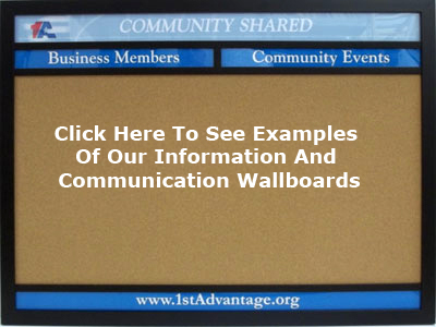 click here to see examples of our information and communication wallboards