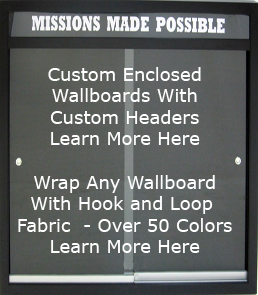 Custom enclosed wallboards with headers - made to your size