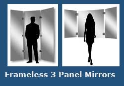 Frameless 3 Panel Mirror