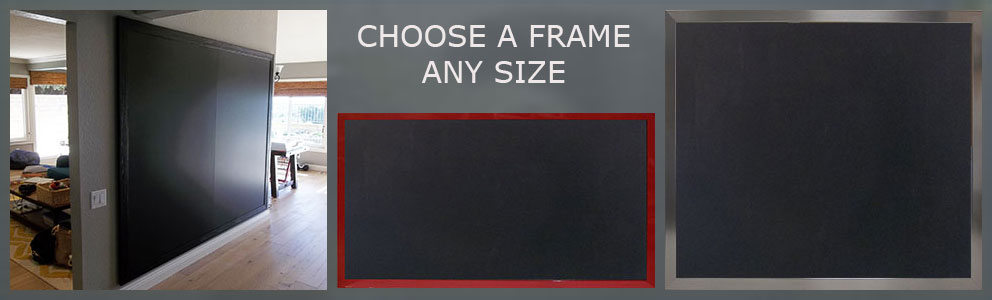 Custom chalkboards made to your size - hundreds of options