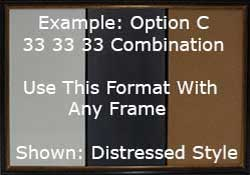 Example of custom combination divided 33 x 33 x 33