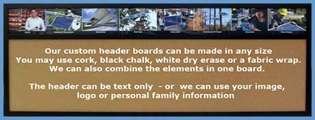custom header wallboards using your photography or graphics