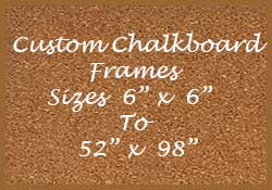 Shop custom corkboards by the outside size of the frame