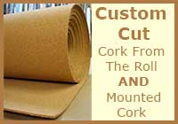 Unframed Custom Cut Thick Cork Material Sold By The Square Foot