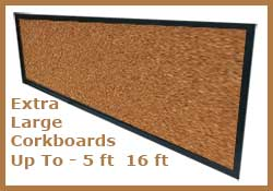 very large custom cork pinboards - bulletin boards - up to 5 feet x 16 feet