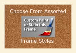 Custom unfinished cork bulletin board frames - paint or stain - DIY cork boards