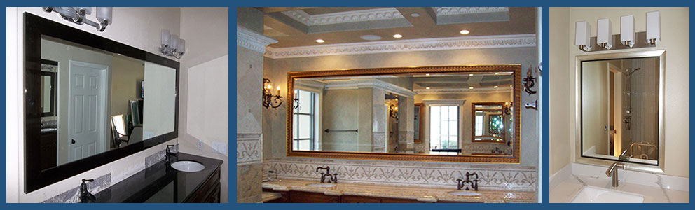 Custom Bathroom Mirrors - Hundreds Of Frame Styles guarantee safe delivery